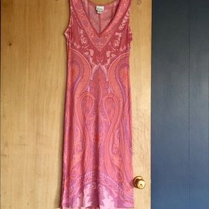 Tracy Reese Silk Dress Sz 8 Pink Purple Paisley